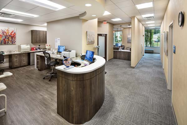 The clinical area of our Alpharetta (at Avalon) office