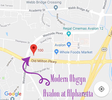 Map Of Georgia Hospitals.Alpharetta Ob Gyn Office At Avalon Modern Obstetrics