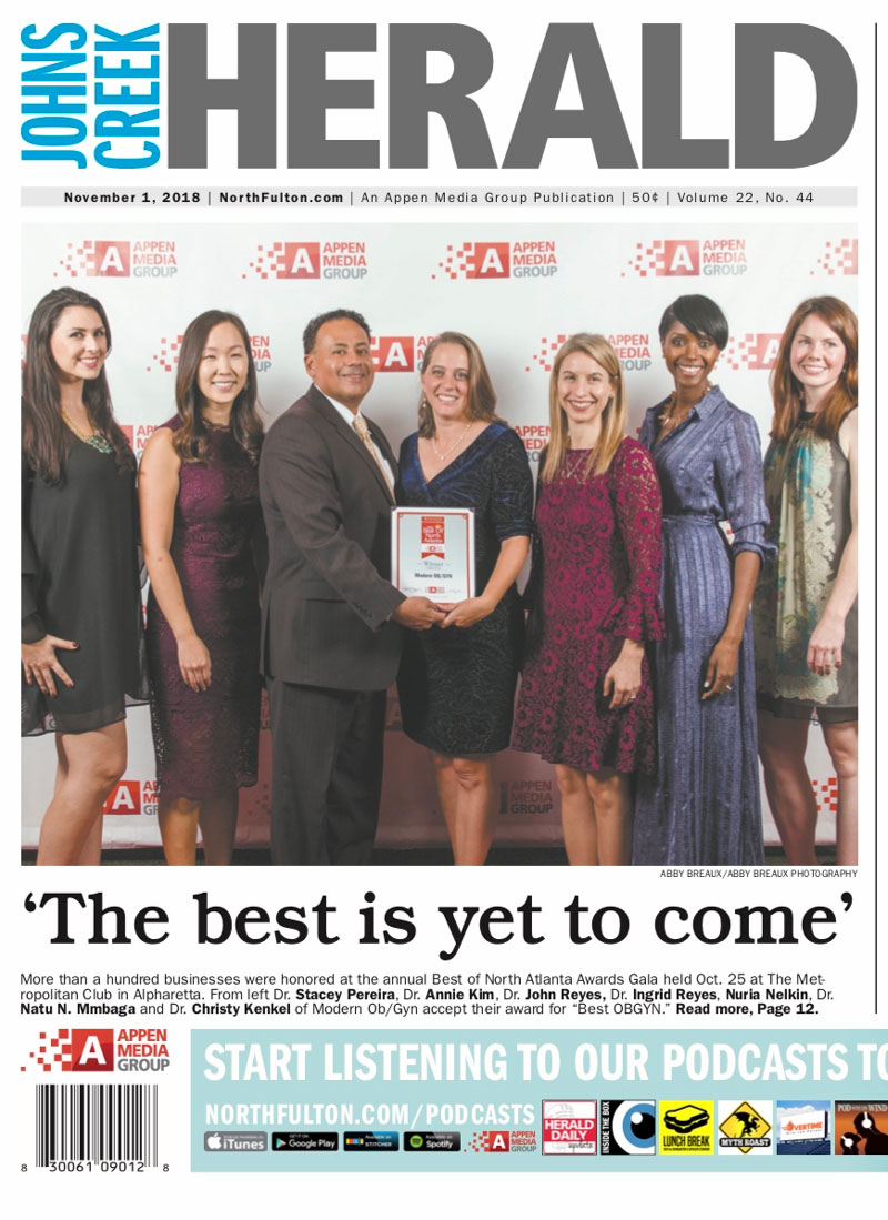 Modern OBGYN team being honored at the Best of North Atlanta