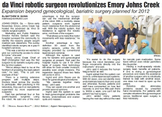 Emory Robotics Surgery